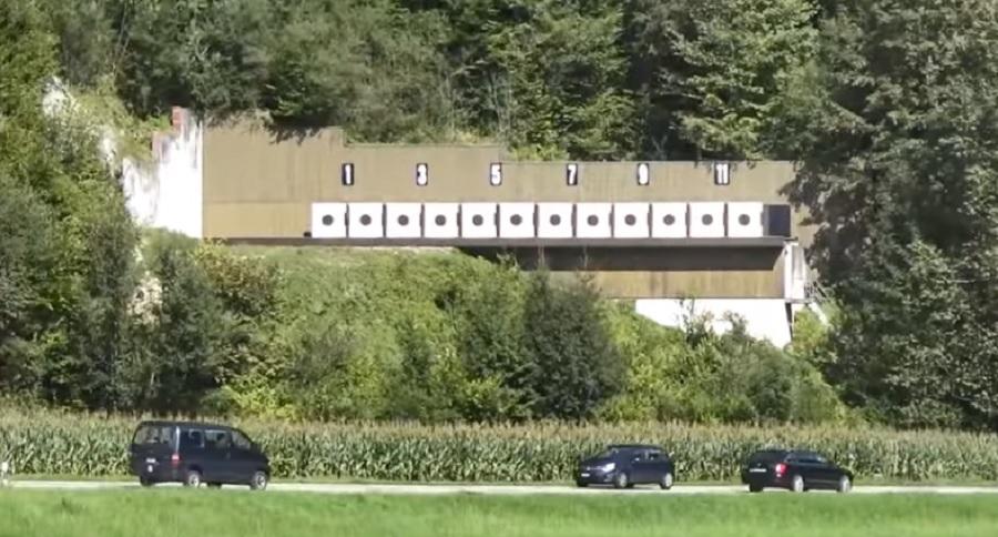 GUN RANGE BUILT OVER MAJOR HIGHWAY
