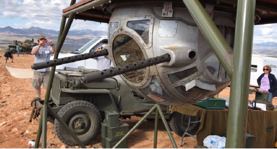 EVER WITNESS A WWII BALL TURRET LIVE FIRE? (VIDEO)