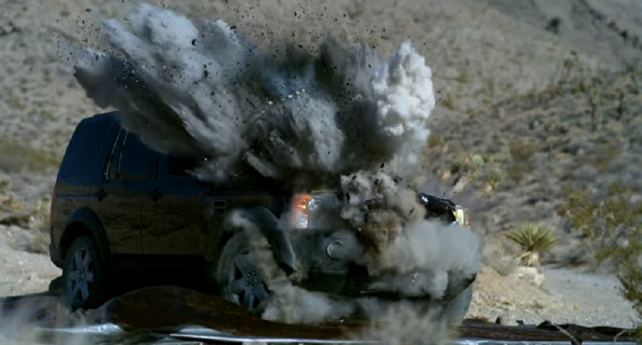 TANK ROUND VS. LAND ROVER = EPIC DESTRUCTION ON VIDEO