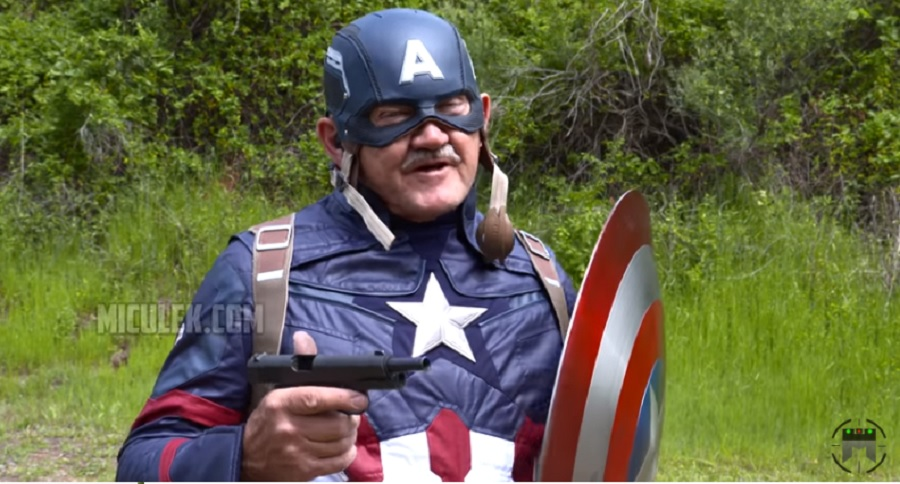 BULLET PROOF TESTING JERRY MICULEK'S CAPTAIN AMERICA SHIELD