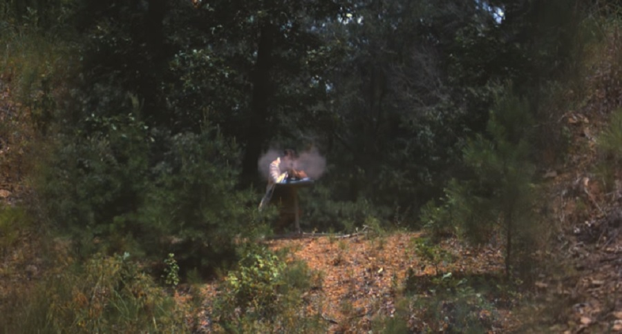 SLOW MOTION FOOTAGE: RECEIVING END OF .50 BMG BULLET