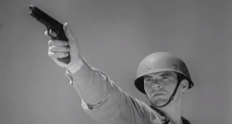 VINTAGE FOOTAGE: WW2 1911 .45 TRAINING