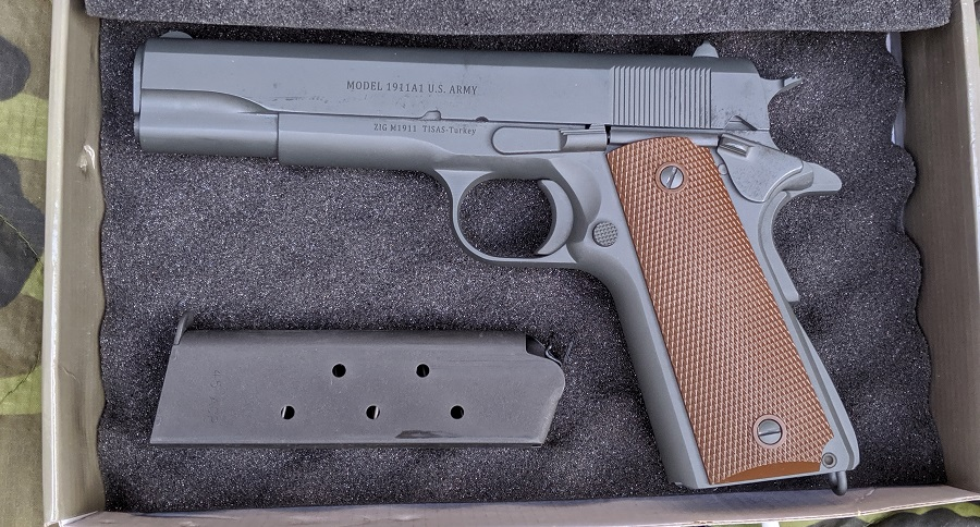 SDS IMPORTS MODEL 1911 A1 U.S. ARMY SIDEARM GETS RANGE TIME