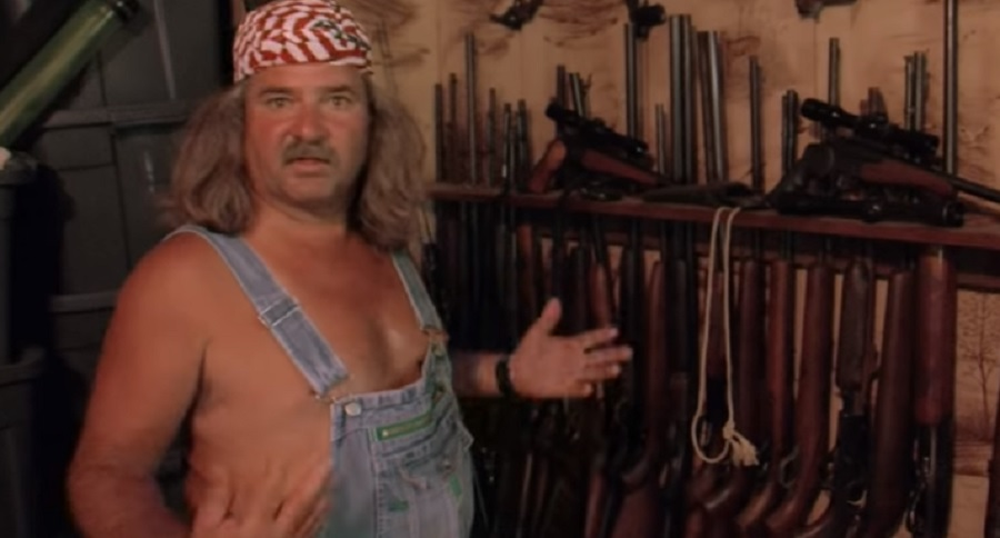 BRUCE MITCHELL SHOWS OFF HIS GUN COLLECTION